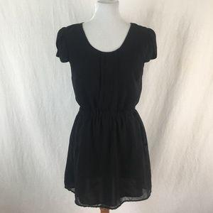 ANTHROPOLOGIE Pins & Needed Women's Black Dress